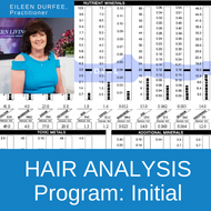 HTMA Hair Analysis Program | Initial hair analysis and customized nutritional balancing recommendations from Practitioner Eileen Durfee.