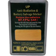 Anti-Radiation and Battery Salvage sticker at Go Healthy Next