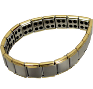 Quantum Bracelet - 80 Germanium Bells, Titanium Silver with Gold edge at Go Healthy Next