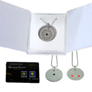 Quantum Pendant - Stainless Steel 3-in-1 with germanium, near infrared and two far infrared  healing stones plus nano energy card at Go Healthy Next