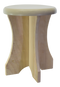 Portable sauna poplar stool side view