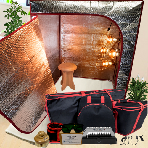 Sauna Fix Ultimate Bundle EU 230 Volt Near Infrared Sauna, fitted for European outlets, at Go Healthy Next.