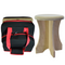 Sauna poplar stool and stool travel bag. The sauna poplar stool assembles and disassembles quickly for easy portability