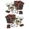 Two Sauna Fix® Near Infrared Sauna lamp hangers and portable travel bags.