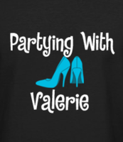 Custom order - Partying with Valerie Heels Rhinestone transfer