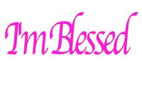 I'm Blessed Pink Vinyl Transfer