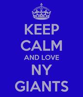 Keep Calm and Love NY GIANTS (Text) Vinyl Transfer (White)