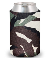 Camouflage - Plain Koozie or Can cooler
