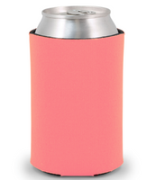 Coral - Plain Koozie or Can cooler