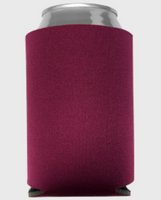 Burgundy - Plain Koozie or Can cooler