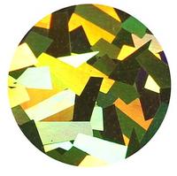 Golden Big Flakes - Hologram Vinyl Sheet