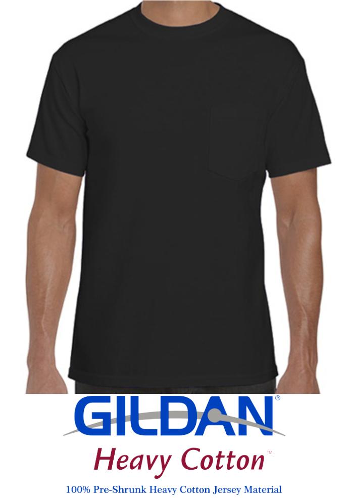 162faa5ce2108 Men T-shirt Gildan® Heavy Cotton™ 100% cotton (Black) - Texas Rhinestone