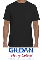 (Unisex) T-shirt Gildan® Heavy Cotton™ 100% cotton (Black)