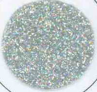 Hollow Silver Glitter Vinyl Sheet