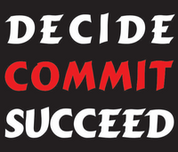 Decide Commit Succeed Vinyl Transfer (White & Red)