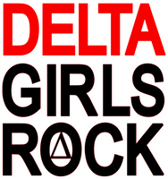 Delta Girls Rock Vinyl Transfer (2 color) (Red & Black)