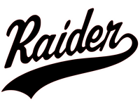 Raider Mascot Vinyl Transfer (Black)