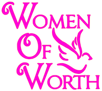 Women of Worth with bird Vinyl Transfer (fuchsia)