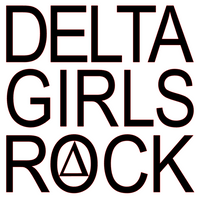 Delta Girls Rock Vinyl Transfer (1 color) (Black)