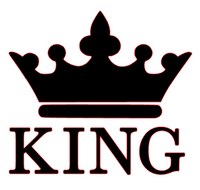 ( King Crown Vinyl Transfer (Black)