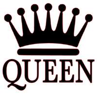 Queen Crown Vinyl Transfer (Black)