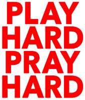 Play Hard Pray Hard Vinyl Transfer (Red)