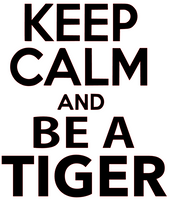 Keep Calm and be a Tiger Vinyl Transfer