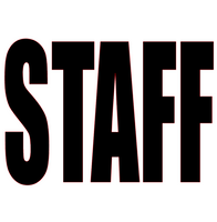 Staff (Text) (White) Vinyl Transfer