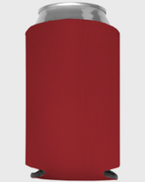 Crimson - Plain Koozie or Can cooler