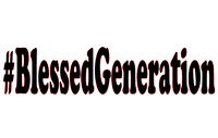 #BlessedGeneration (Black Text) Vinyl Transfer