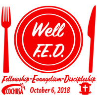 Well FED  Fellowship Evangelism Discipleship Custom Vinyl Transfer