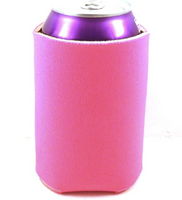 Neon Fuchsia - Neoprene Can cooler and Koozie