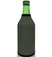 Grey Bottle Koozie Neoprene