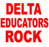 Delta Educators Rock Vinyl Transfer (1 color) (Red)