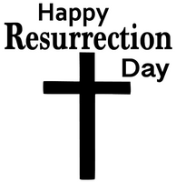 Happy Resurrection day cross Vinyl Transfer (White)