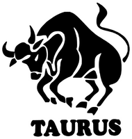 ( Taurus Zodiac horoscope - Vinyl 1Transfer (Black)