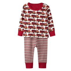 Hatley Fire Trucks Long Sleeve Organic Cotton Baby Pyjama