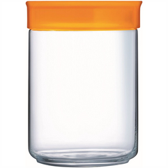 1 Litre Storage Jar with Orange Lid