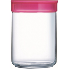 1 Litre Storage Jar With Raspberry Lid