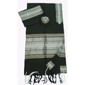 Black, Gray & Gold Silk Tallit