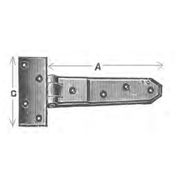 Brass Hinges - T