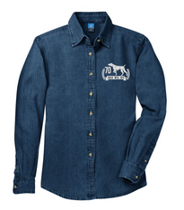 WEIM 70TH LADIES LONG SLEEVE DENIM SHIRT