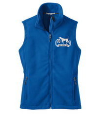 WEIM 70TH LADIES FLEECE VEST WITH EMBROIDERED LOGO