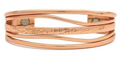 Magnetic copper bracelet honoring the changing tides.