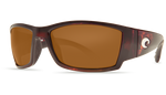Costa Del Mar Polarized 580P Sunglasses GLOBAL FIT: Corbina in Tortoise & Amber Lens
