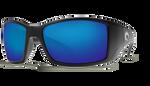 Black Frame & Blue Mirror Lens