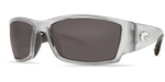 Costa Del Mar Polarized 580P Sunglasses: Corbina in Silver & Grey Lenses
