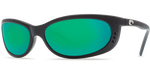 Costa Del Mar Fathom Polarized Sunglasses in Black with Green Mirror 580G Glass Lens