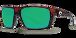 Costa Del Mar Hamlin 580G Polarized Sunglasses, Tortoise with Green Mirror