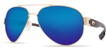 Costa Del Mar Polarized South Point Aviator Sunglasses Gold Frame Blue Mirror 580G Lens